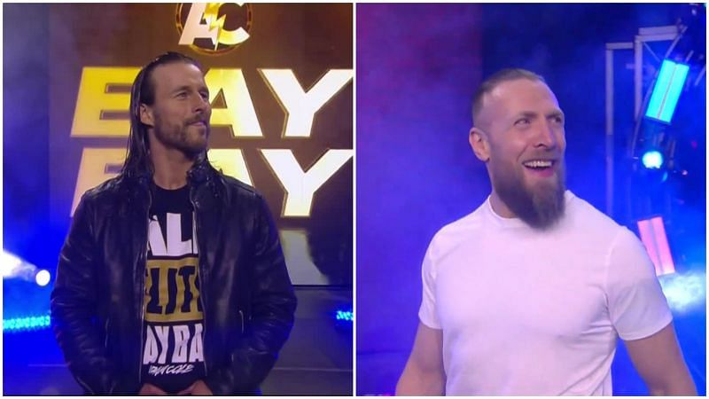 Adam Cole and Bryan Danielson at All Out