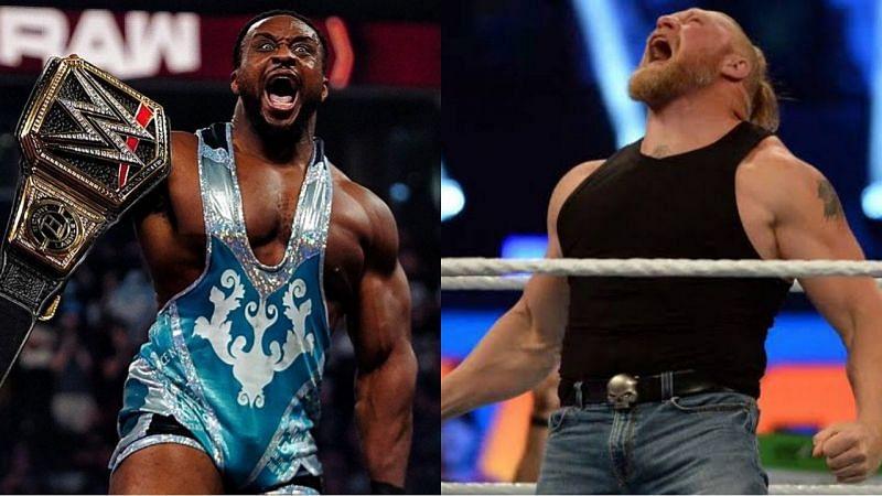 WWE चैंपियन बिग ई और ब्रॉक लैसनर