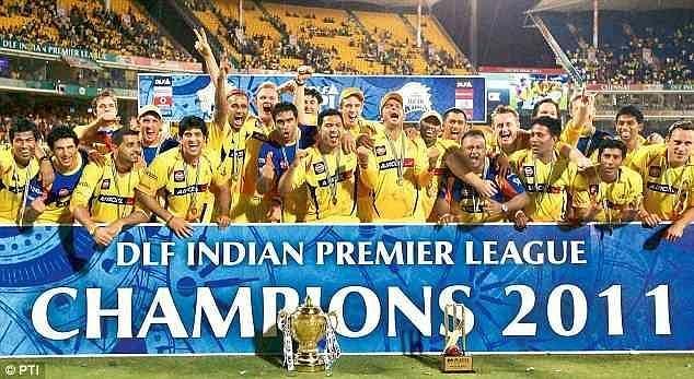 Chennai Super Kings celebrating their IPL win