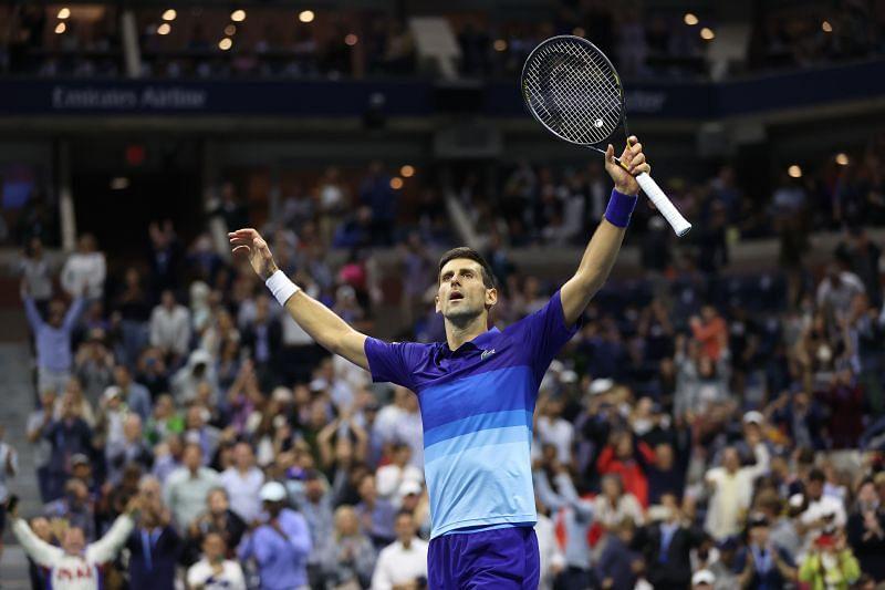 Novak Djokovic after beating Alexander Zverev