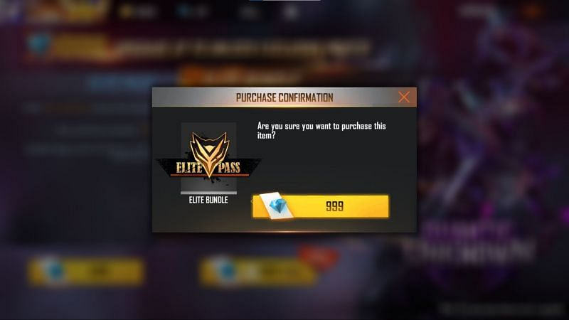 You need to confirm the purchase to get the pass (Image via Free Fire)