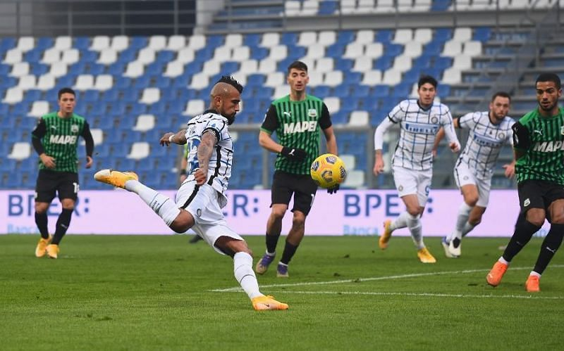 Inter Milan are unbeaten in five games to Sassuolo