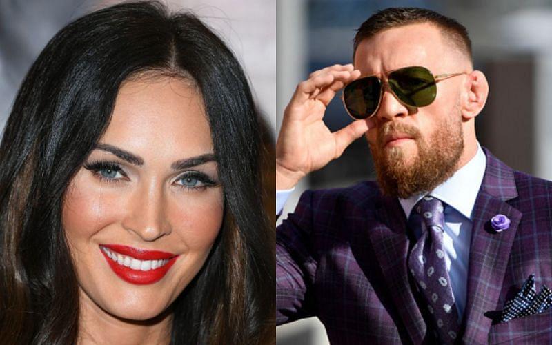 Megan Fox (left); Conor McGregor (right)