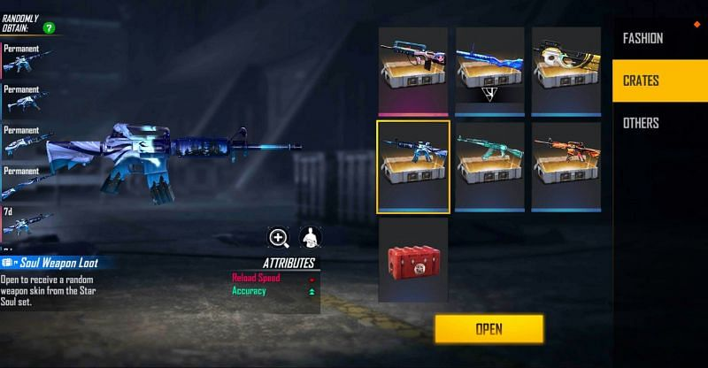 1x Star Soul Weapon Loot Crate (Image via Free Fire)