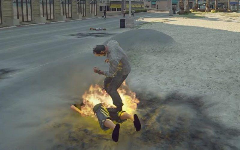 爆炸性近战攻击是众多 GTA 5 作弊之一(图片来自 Rockstar Games)