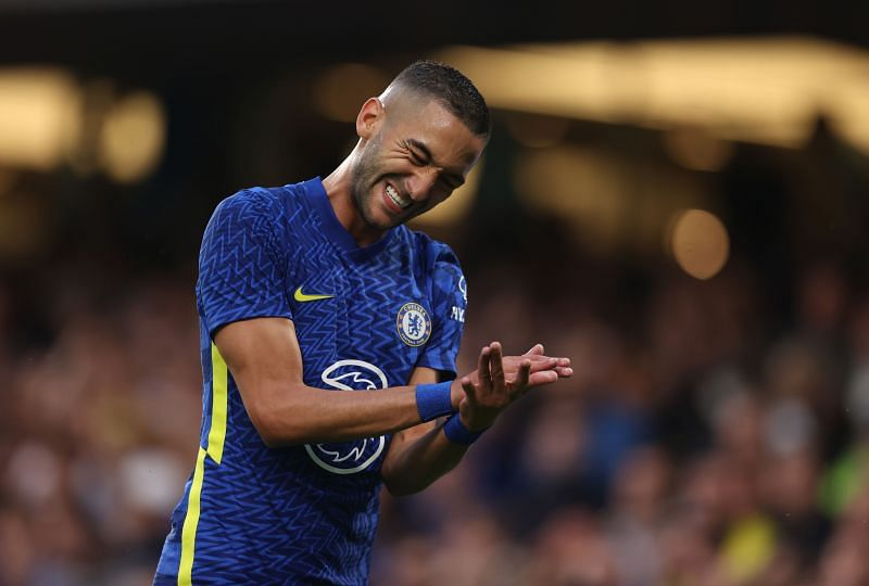Chelsea and Morocco winger Hakim Ziyech reacts during a pre-season friendly against Tottenham Hotspur