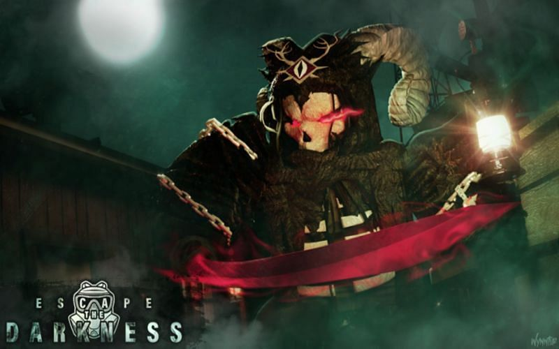 Roblox Escape the Darkness has a very strong horror feel and tone (Image via Bitware Games)