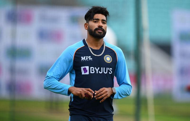 Mohammed Siraj during a nets session at The Oval. Pic: Getty Images