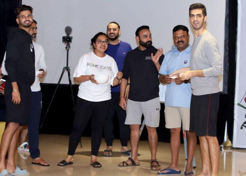 Delhi Capitals players indulge in fun activities.