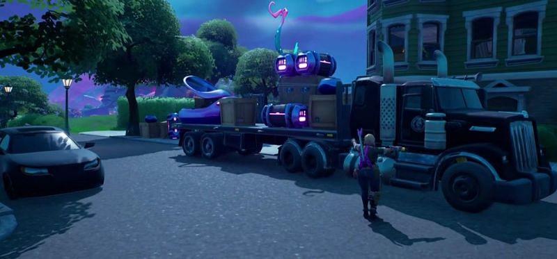 The IO truck in Fortnite Chapter 2 Season 8 (Image via Fortnite)