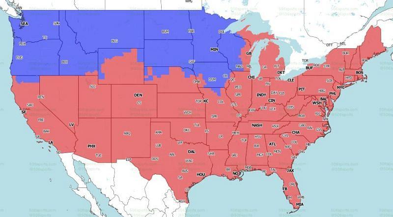 FOX Coverage Map สำหรับช่วงท้ายเกมของสัปดาห์ที่ 3