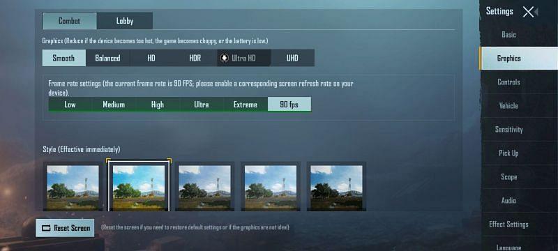 PUBG Mobile graphics settings to reduce lag
