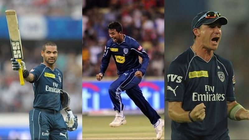 (L-R): The likes of Shikhar Dhawan, Pragyan Ojha and Dale Steyn played for the Deccan Chargers in the 2011 edition of the Indian Premier League