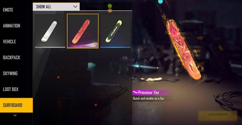 The surfboard is a permanent reward and will not expire (Image via Free Fire)