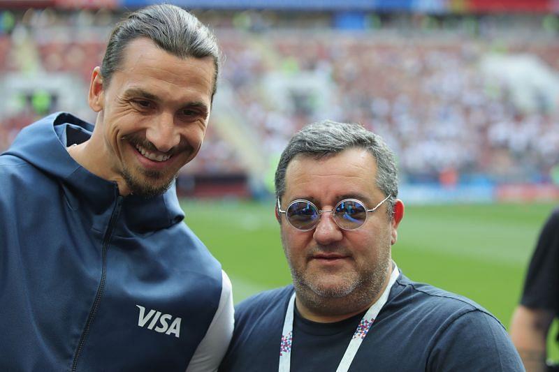 Златан Ибрагимович и его агент Мино Райола