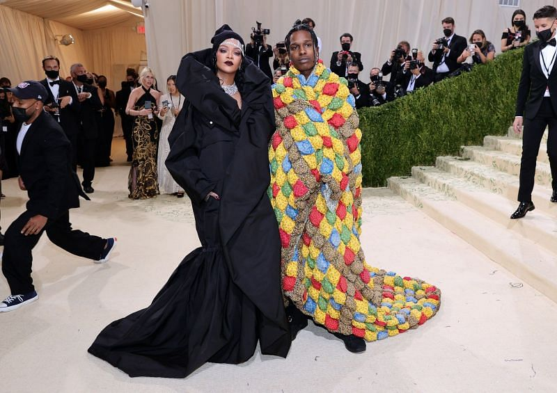 Rihanna and A$AP Rocky at the 2021 Met Gala (Image via Getty)