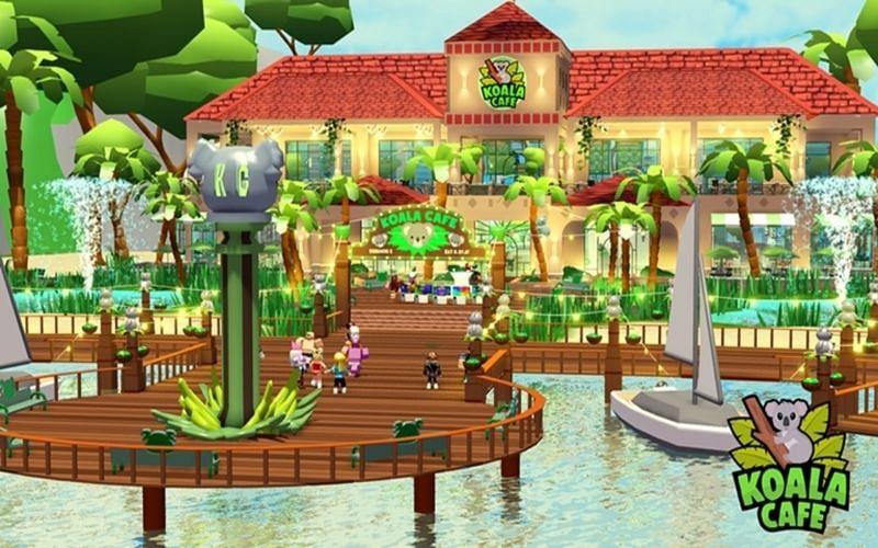 Roblox Koala Cafe takes place in a very tropical setting (Image via Koala Association)