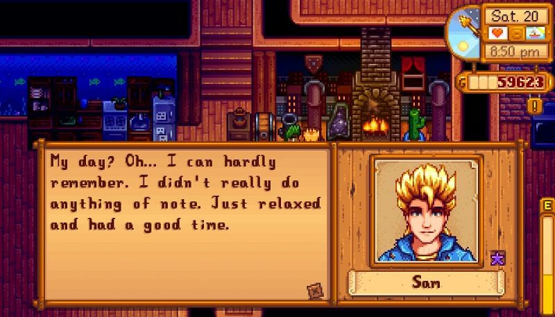Sam is an NPC in Stardew Valley that players can marry (Image via u/OwlyBird on Reddit)