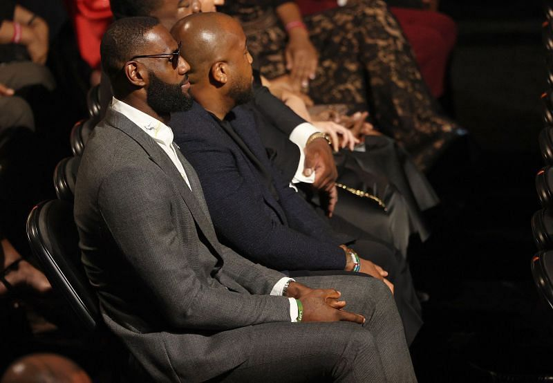 LeBron James at the 2021 Naismith Memorial Basketball Hall of Fame ceremony