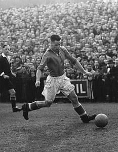 Billy Liddell playing for Liverpool F.C.