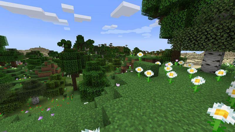 Bioma Dataran (Gambar melalui Minecraft)