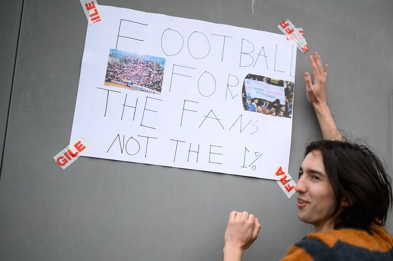 Fans respond to news of the European Super League