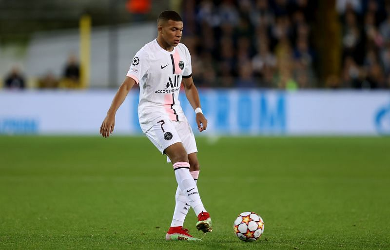 PSG forward Kylian Mbappe. (Photo by Lars Baron/Getty Images)