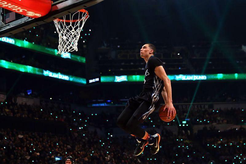 Zach LaVine in the 2015 NBA Slam Dunk Contest