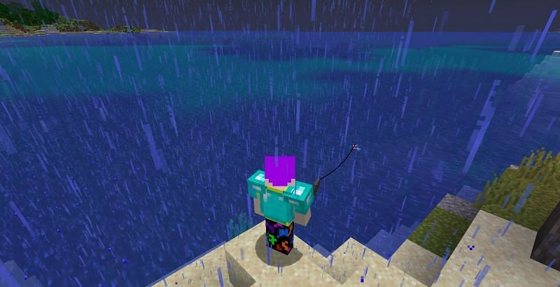 Using Luck of the Sea can be very beneficial to Minecraft players (Image via Minecraft)