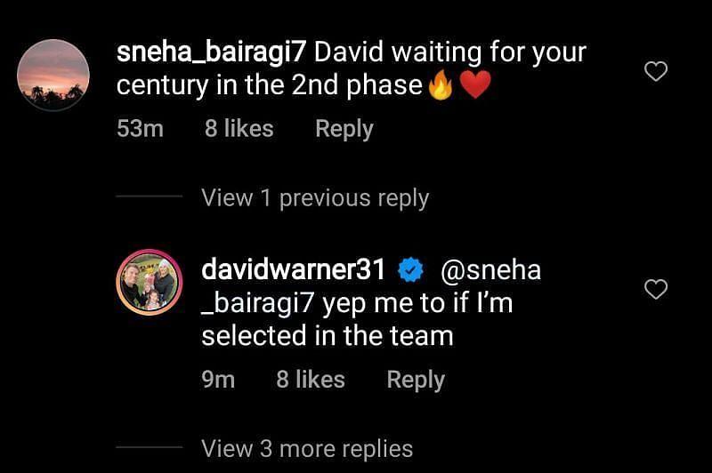 डेविड वॉर्नर को आईपीएल 2021 के दूसरे चरण में टीम में मौका मिलेगा या नहीं?