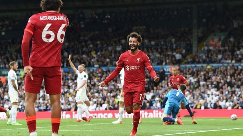 Mohamed Salah (right) is the highest point-scoring FPL midfielder ahead of GW 5.