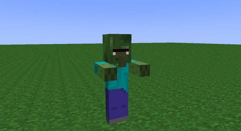 Zombie villager mob in Minecraft (Image via Minecraft)