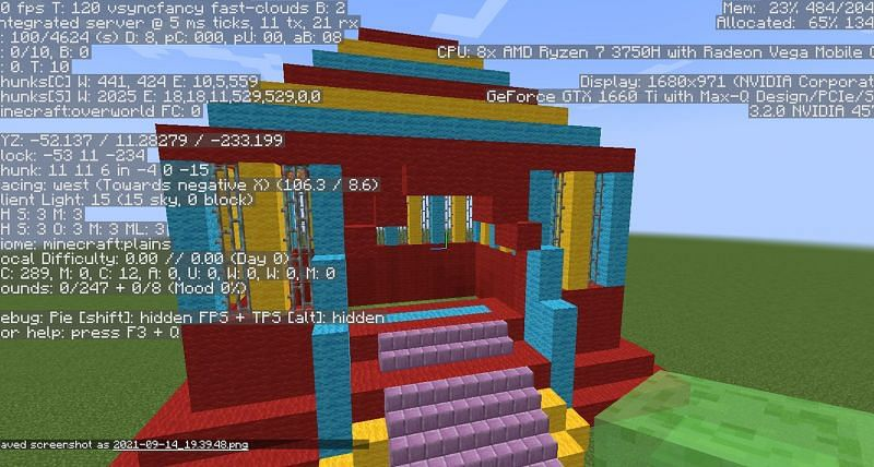 A bouncy house in Minecraft (Image via Minecraft)