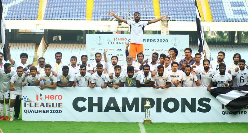 Mohammedan Sporting, winners of the I-League qualifiers 2020. (PC: AIFF)