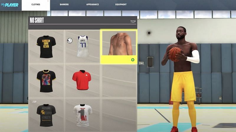 Take Your Shirt Off in NBA 2K22 [Source: VGR]