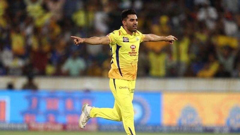 Chennai Super Kings bowler Deepak Chahar