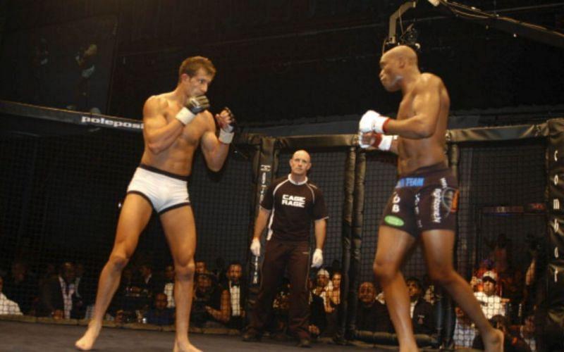 Lee Murray (left); Anderson Silva (right)