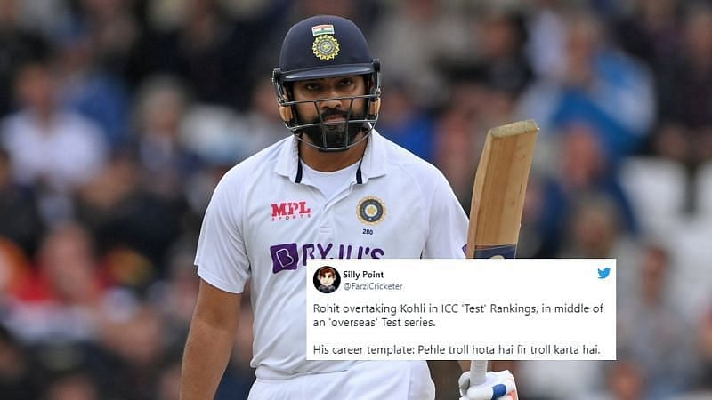 आईसीसी टेस्ट रैंकिंग में पहली बार टॉप 5 में आने के बाद रोहित शर्मा की चर्चा चल रही है