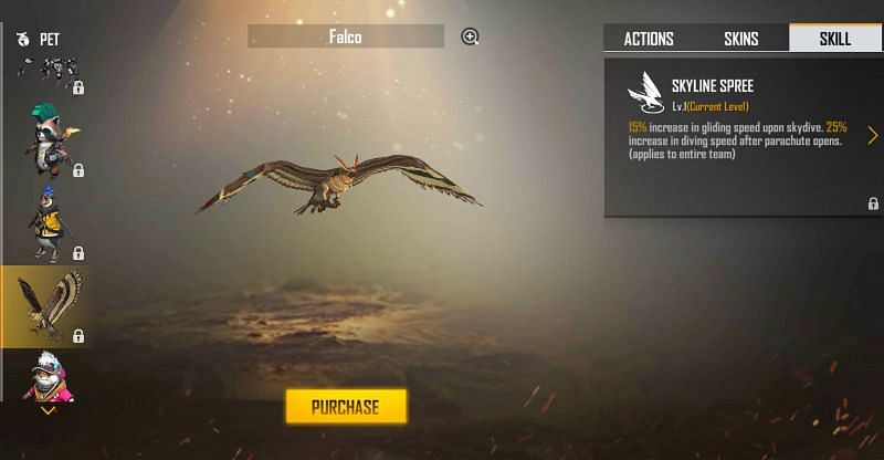 Falco and its ability (Image via Free Fire)