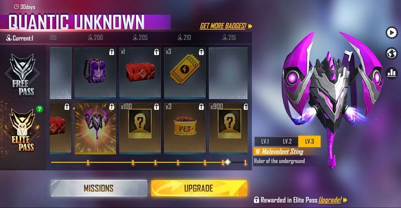 The bag skin in the Elite Pass (Image via Free Fire)