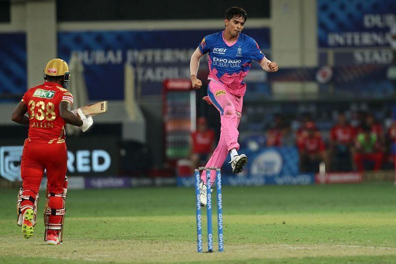 Kartik Tyagi helped the Rajasthan Royals register an improbable win [P/C: iplt20.com]