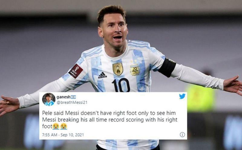 Lionel Messi now has 79 international goals