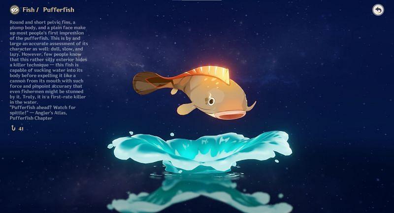 Pufferfish can be found in the waters of Genshin Impact (Image via Genshin Impact)
