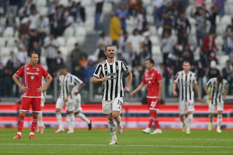 Leonardo Bonucci was on target as Juventus won for the second game in a row.