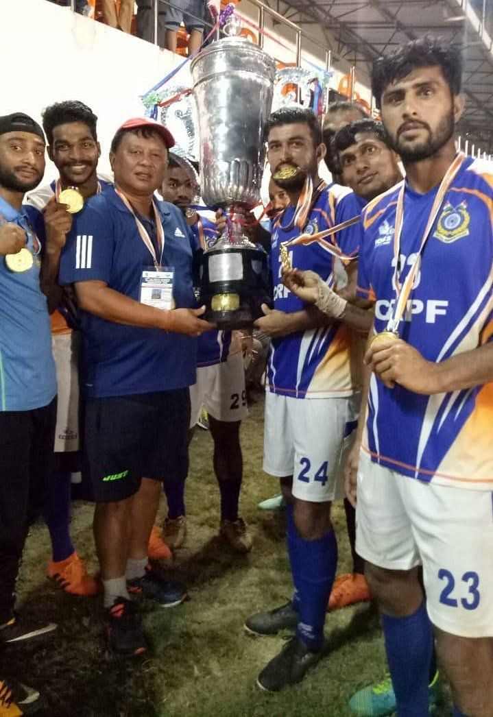 CRPF football team won the All India Police Football Championship back in 2019. (Image: CRPF)