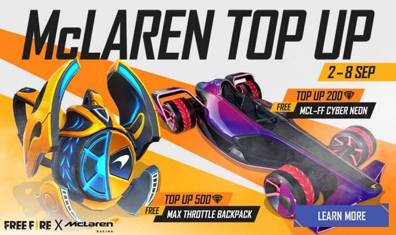 Cara membeli berlian Free Fire untuk mendapatkan hadiah di acara top up McLaren