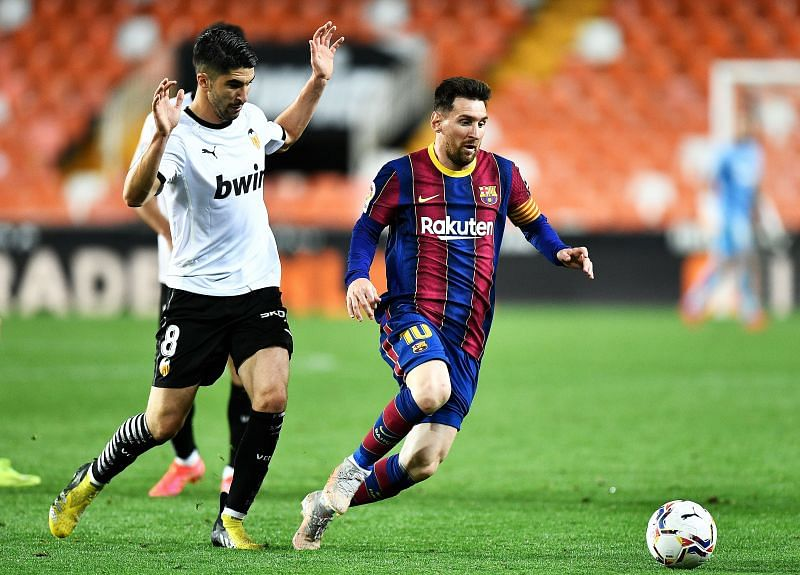 Messi has been directly involved in 38 goals against Valencia throughout his La Liga career