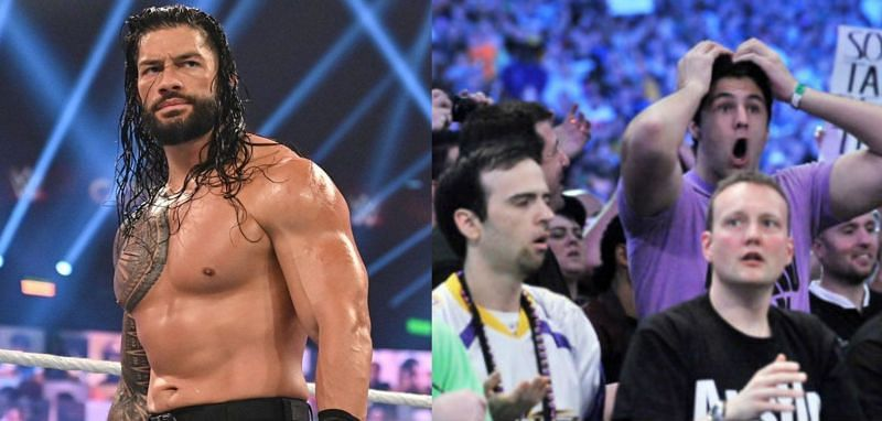 WWE यूनिवर्सल चैंपियन रोमन रेंस और फैंस