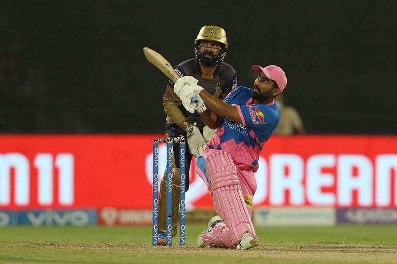 राहुल तेवतिया बल्लेबाजी के दौरान (Photo Credit - IPLT20)