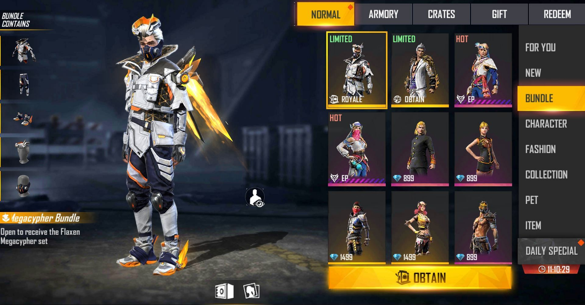 Users can get it from Golden Ascension (Image via Free Fire)